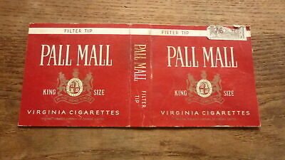 OLD CANADA CANADIAN CIGARETTE PACKET LABEL, PALL MALL (Pall Mall Brands)