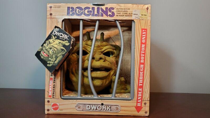 Vintage Boglins 1987 Mattel ex* box with hang tag BROKEN EYES