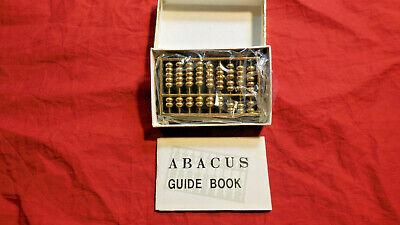 Gold Colored Abacus on Stone Base Math Calculator  NIB