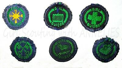 6 Girl Guide Badges International Thinking Day Patch Uk  Canada  Combine Ship