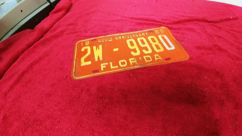 1965 florida license plate