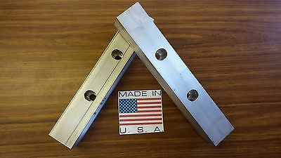 12 X 2 X 2 Vise Jaw Pair-reversible Aluminum For Kurt And Most Others-usa