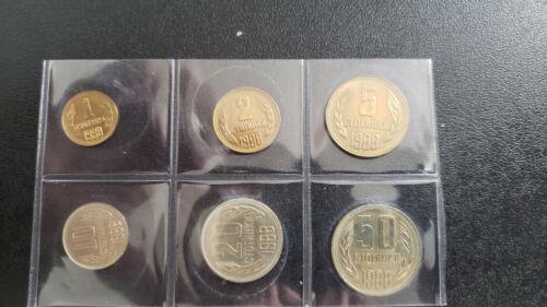 Bulgaria 1988 6 coin set, 1, 2, 5 (rare), 10, 20 and 50 stotinki UNC