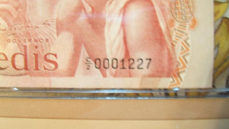 Most Treasured Banknotes Ghana 1978 10 Cedis P16f UNC Low C/2 0001227