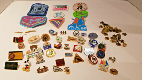 VINTAGE POLITICAL,  GIRL SCOUT SLASH PATCHES,PINS MIXED LOT.