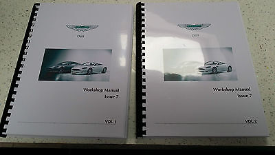 ASTON MARTIN DB9 WORKSHOP MANUAL A4 FULL COLOUR VERSION 7 - 2004 TO 2012 MODELS