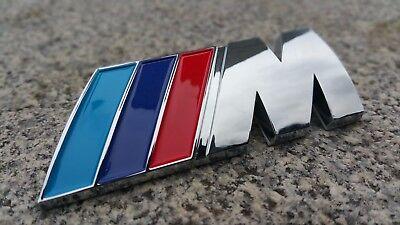 BMW ABS M-TECH SPORT 3D Chrome M Emblem Badge Logo Decal