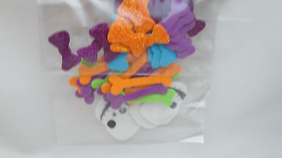 Halloween 45 Foam Stickers - Bows, Bones & - Halloween Foam Stickers