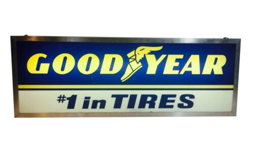 GOODYEAR TIRE SIGN#1 in Tires Vintage Double Sided Dealer Advertising
