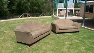 Micro suede fabric couches