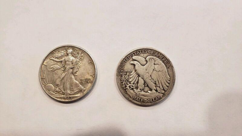 1 - Walking Liberty Half Dollar with date  90% Silver- Nice Circulated-Fast Ship