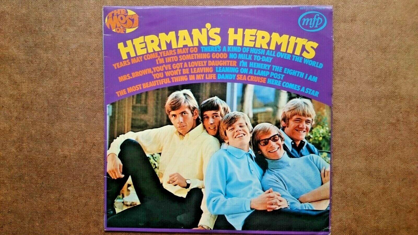 Herman's Hermits:  Vinyl Record LP (MFP Records 1970s)