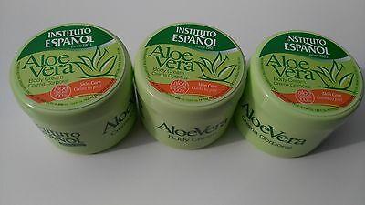 3 Body Cream with Aloe Vera Instituto Espanol pots Made in Spain.