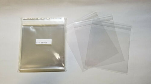 1000 Pcs 3 1/4 x 3 1/4 (for 3x3) Clear Resealable Poly Cello Cellophane Bags