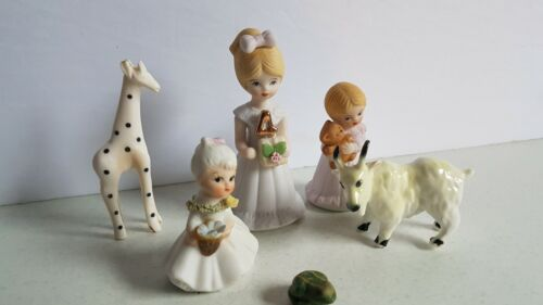 Growing Up Girls and Other Figure Figurine Lot Vintage