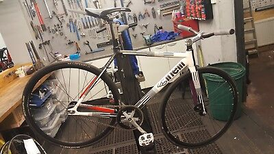 Cinelli mash parallax black/white fixie/fixed/track bike
