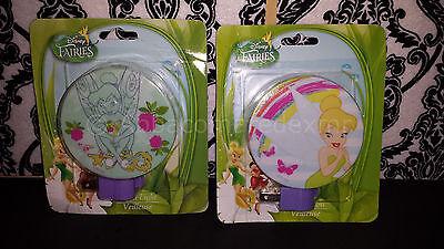 ((2) Disney Fairies Night Light - Rotary Shade Bulb Included - Tinkerbell Fairy)