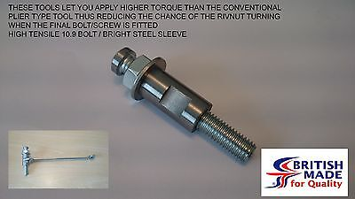 M8 - Engineers Heavy Duty High Tensile (10.9) Rivnut Insert Setting Tool Nutsert