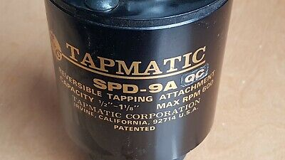 Tapmatic Spd-9a-qc Reversible Tapping Head 12-1 18 With R8 Collet