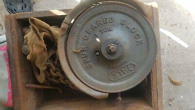 Yale Bb 1ton Manual Chain Hoist Spur Geared Block 10 Chain