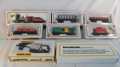 Vintage HO Bachmann Jupiter Steam Train Set ,Cars, Power Pack & Track NIB