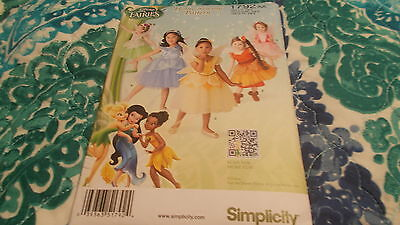 NEW uncut SIMPLICITY PATTERN 1792AA COSTUME FOR TODDLERS SIZE 1/2-3 FAIRIES