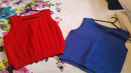 Hand-knitted Vests