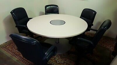 Allsteel 60 Conference Table With Powered Base