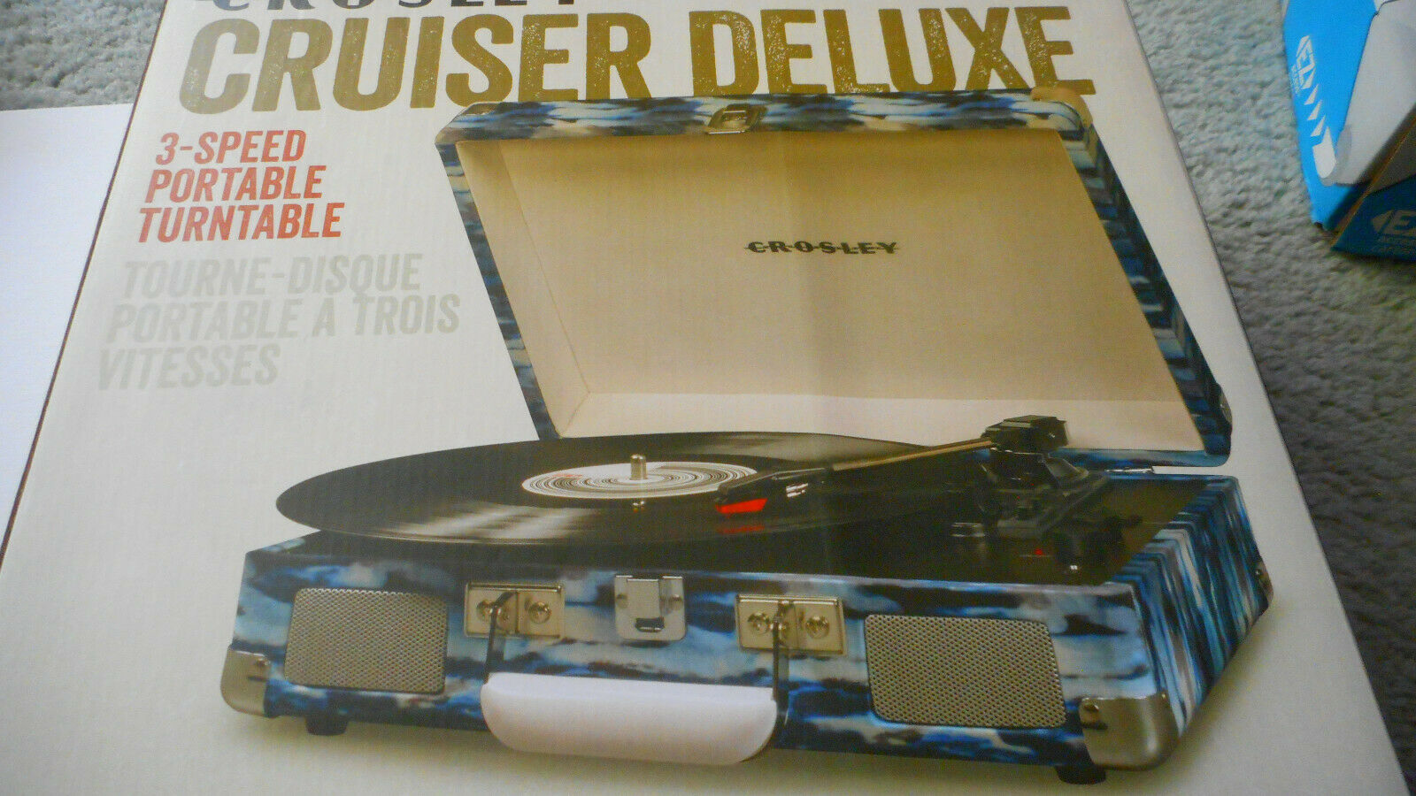 Crosley Cruiser Deluxe Black With Added Bluetooth And Pitch