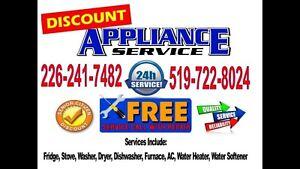 Discount Appliance Repair 24/7 Same day Service 519-722-8024