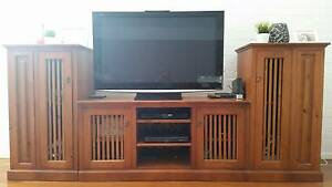 WOODEN TV CABINET AND MATCHING COFFEE TABLE Woronora Heights Sutherland Area Preview