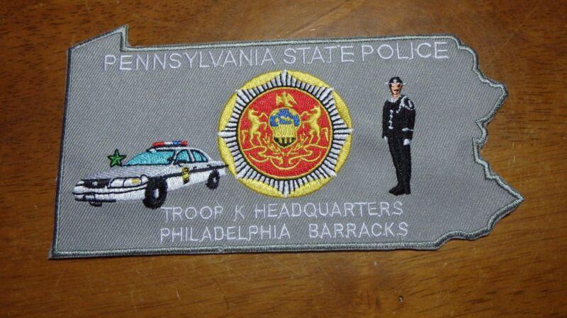 PENNSYLVANIA STATE POLICE TROOP K  GHQ PHILADELPHIA  BARRACKS STATE TROOPER