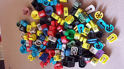 LOT 100 HANGER CLIP MIXED SIZE ORGANIZE CLOTHING COLORFUL PLASTIC retail store