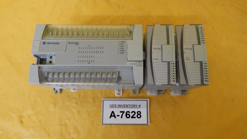 A-B Allen-Bradley 1762-L40BXBR PLC Controller 1762-IQ8 1762-OW16 Used Working
