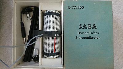 SABA D77/200 Dynamisches Stereo Mikrofon mit OVP