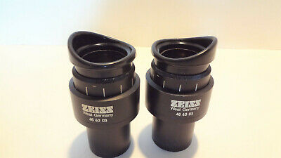 Carl Zeiss W10x25 Paired Widefield Eyepieces High Eyepoint Pn 46 40 03