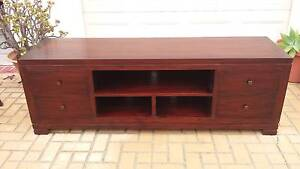 BALINESE TV BENCH, SOLID WOOD, GC! Greenslopes Brisbane South West Preview