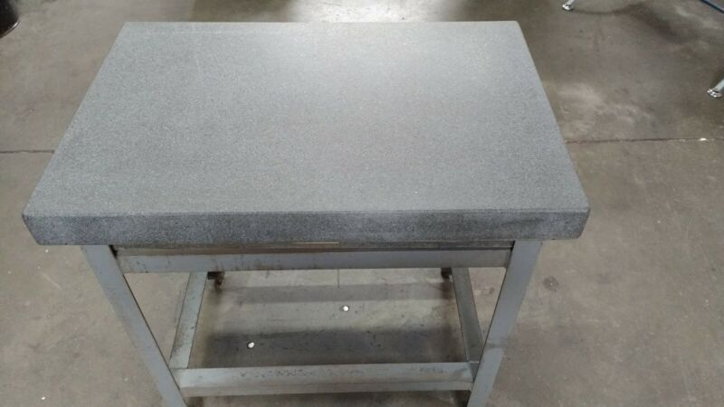 """24"""" x 36"""" x 6""""Mojavegrade A precision granite surface plate with steel stand"""