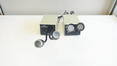 Lot Of 2 Amscope Led-14m Led-14m-ya Microscope Dual Gooseneck Lights