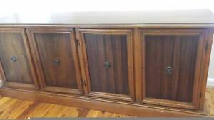 Solid timber 4 door 4 drawer Sideboard Credenza Buffet Frenchs Forest Warringah Area Preview