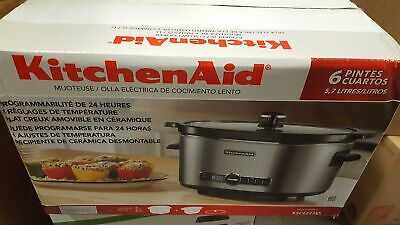 KitchenAid 6 Qt SLOW COOKER 4 Temp Settings Never Used IN BOX Crock Pot
