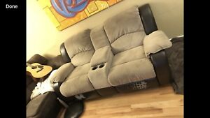 Reclining Love seat with Console $225