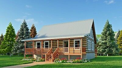 "Log Cabin Kit- DRIED-IN Package ""THOMPSON RIDGE""  36' x 26' 1251 SF $49,000.00"