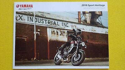 Yamaha Sport Heritage XSR SCR XV 950R 700 950 motorcycle bike brochure 2018 MINT