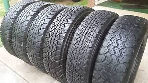 "6 X 16"" GENUINE 4x4 TOYOTA HILUX WHEELS AND TYRES A/T 205R16C Kallangur Pine Rivers Area Preview"