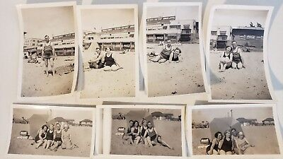 1929 REDONDO BEACH SUMMERTIME PICS OLD TIMEY BATHING SUITS CALIFORNIA SUN  - Old Timey Bathing Suits
