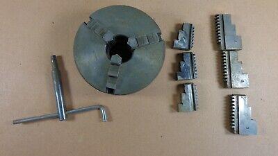Used Craftsman Atlas 101-21650 5 3 Jaw Chuck Lathe 3 Sets Of Jaws