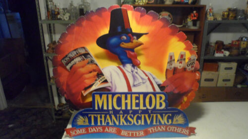 SUPER RARE 1992 MICHELOB BEER TURKEY GOBBLER THANKSGIVING SIGN  ONLY 1 ON EBAY