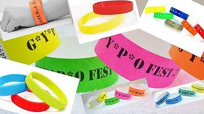 Custom Printed Wristbands,plain,waterproof,childrens,nightclub - Printed Wristbands