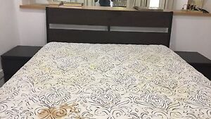 Double Bed frame and mattress, side tables Keperra Brisbane North West Preview